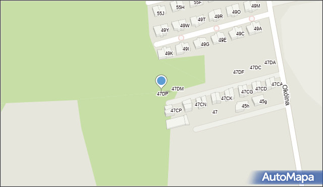 Marki, Okólna, 47DP, mapa Marki