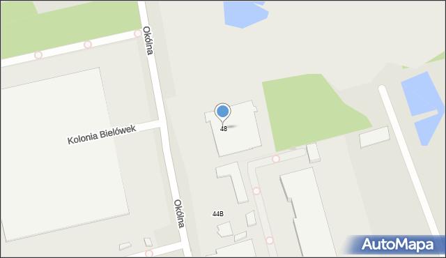 Marki, Okólna, 48, mapa Marki