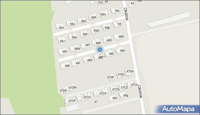 Marki, Okólna, 49E, mapa Marki