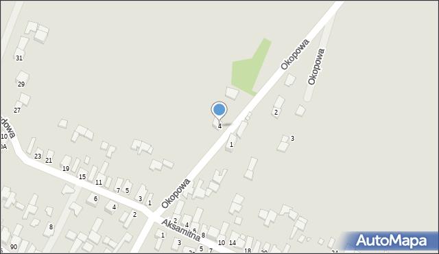 Poręba, Okopowa, 4, mapa Poręba