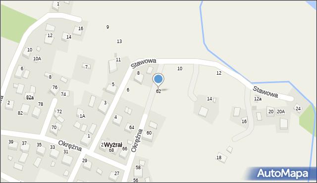 Przeciszów, Okrężna, 62, mapa Przeciszów