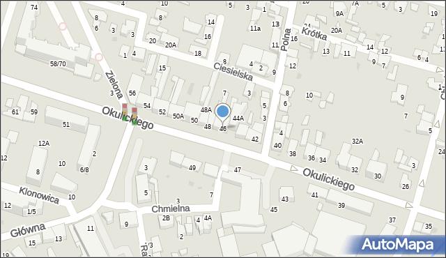 Radom, Okulickiego Leopolda, gen., 46, mapa Radomia