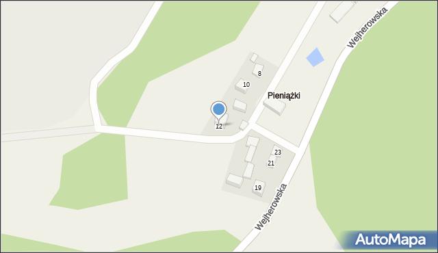 Robakowo, Okrężna, 12, mapa Robakowo