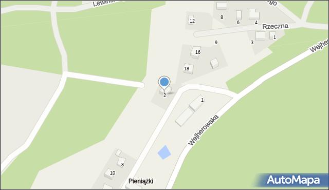 Robakowo, Okrężna, 2, mapa Robakowo