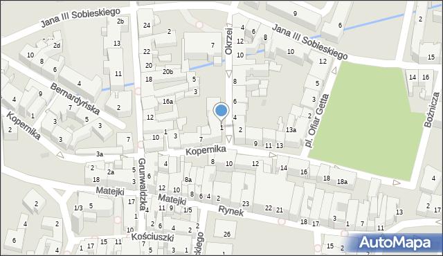 Rzeszów, Okrzei Stefana, 1, mapa Rzeszów