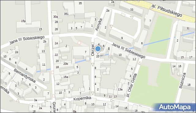 Rzeszów, Okrzei Stefana, 10, mapa Rzeszów