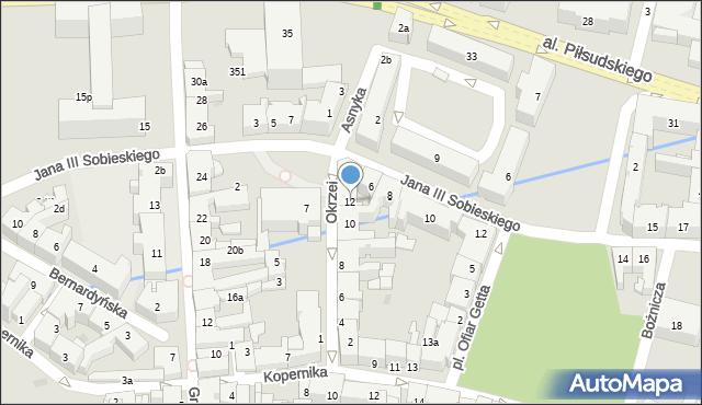 Rzeszów, Okrzei Stefana, 12, mapa Rzeszów