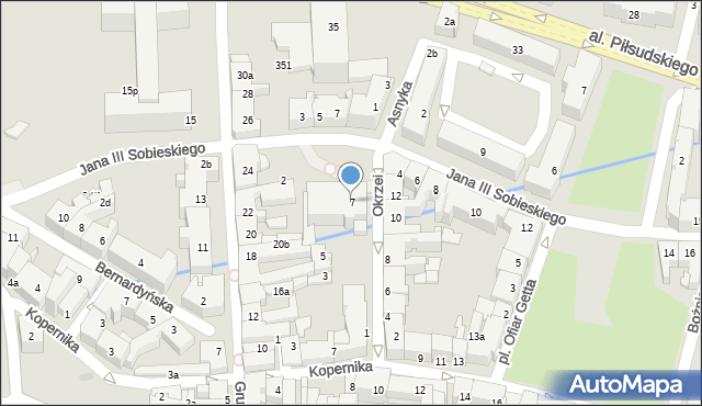 Rzeszów, Okrzei Stefana, 7, mapa Rzeszów