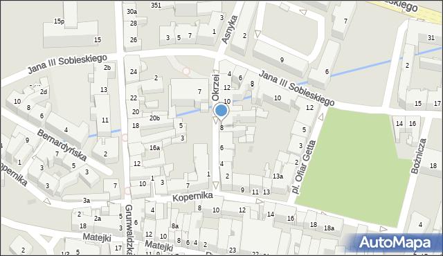 Rzeszów, Okrzei Stefana, 8, mapa Rzeszów