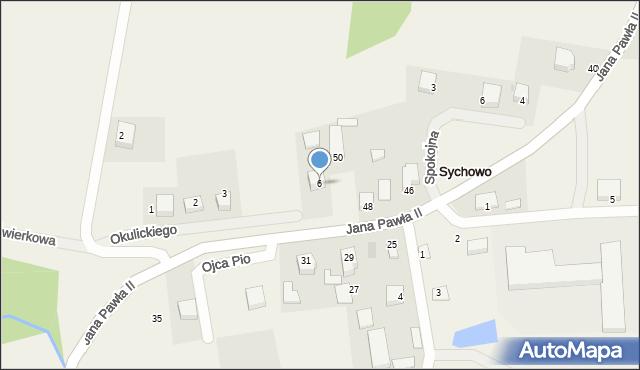 Sychowo, Okulickiego Leopolda, gen., 6, mapa Sychowo
