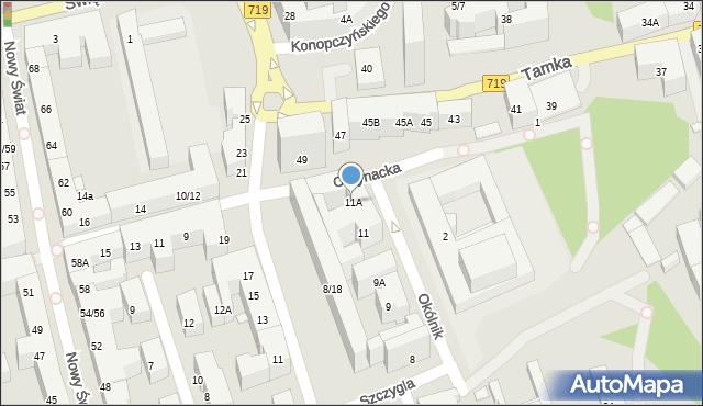 Warszawa, Okólnik, 11A, mapa Warszawy