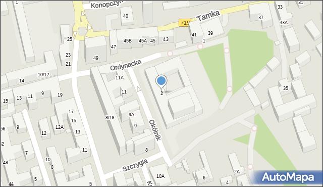 Warszawa, Okólnik, 2, mapa Warszawy