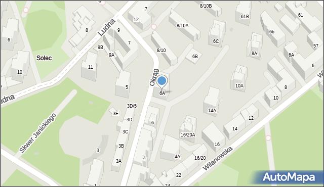 Warszawa, Okrąg, 6A, mapa Warszawy