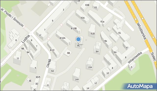 Warszawa, Okrąg, 6C, mapa Warszawy