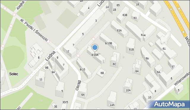 Warszawa, Okrąg, 8/10A, mapa Warszawy