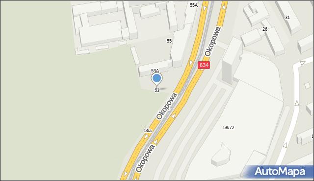 Warszawa, Okopowa, 53, mapa Warszawy