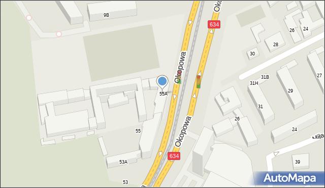 Warszawa, Okopowa, 55A, mapa Warszawy