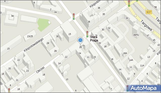 Warszawa, Okrzei Stefana, 26, mapa Warszawy