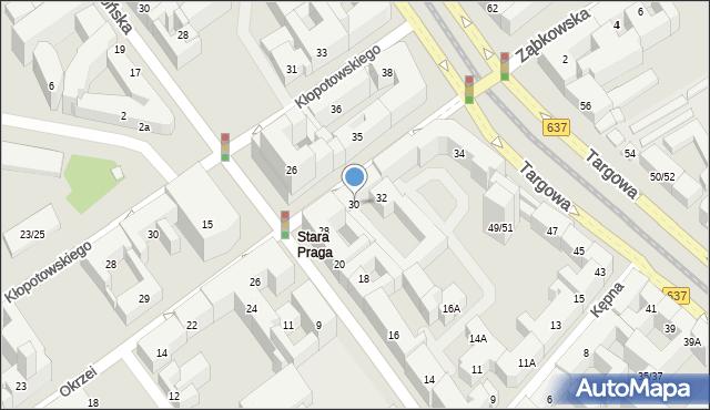 Warszawa, Okrzei Stefana, 30, mapa Warszawy