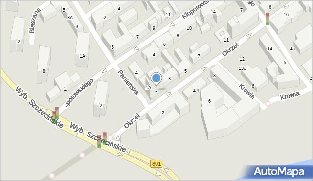 Warszawa, Okrzei Stefana, 1, mapa Warszawy