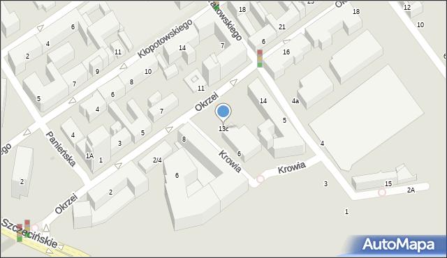 Warszawa, Okrzei Stefana, 13c, mapa Warszawy