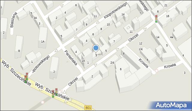 Warszawa, Okrzei Stefana, 3, mapa Warszawy