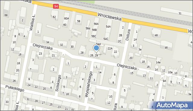 Bytom, Olejniczaka Stanisława, 24, mapa Bytomia