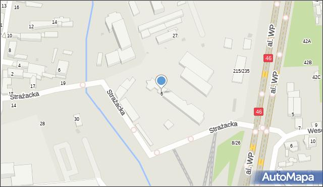 Częstochowa, Olsztyńska, 6, mapa Częstochowy