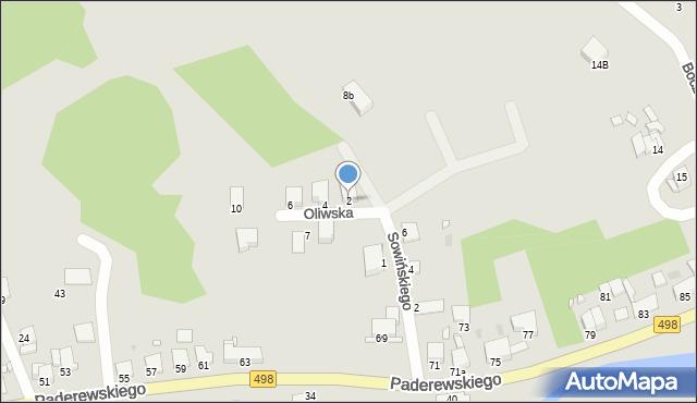 Grudziądz, Oliwska, 2, mapa Grudziądza