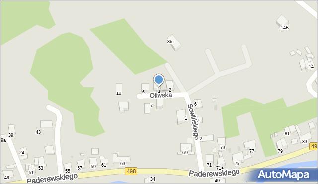Grudziądz, Oliwska, 4, mapa Grudziądza