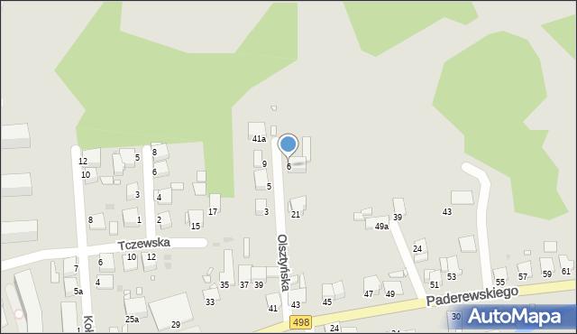 Grudziądz, Olsztyńska, 6, mapa Grudziądza