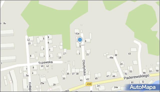 Grudziądz, Olsztyńska, 7, mapa Grudziądza