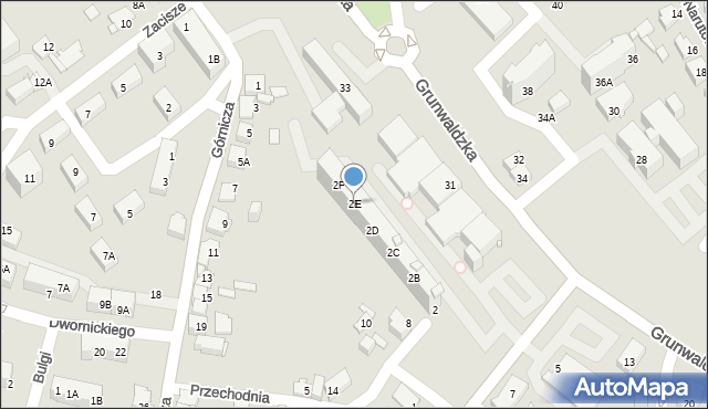 Jaworzno, Olszewskiego Karola, 2E, mapa Jaworzno