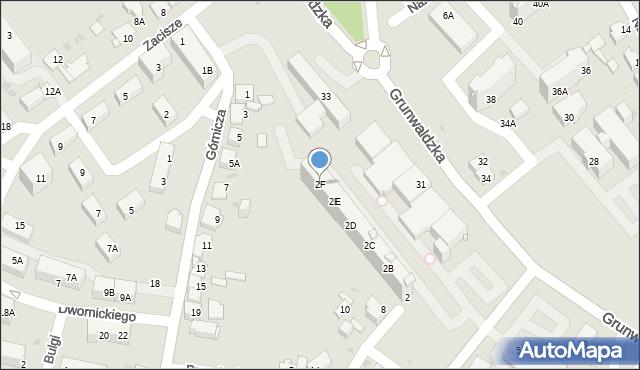Jaworzno, Olszewskiego Karola, 2F, mapa Jaworzno