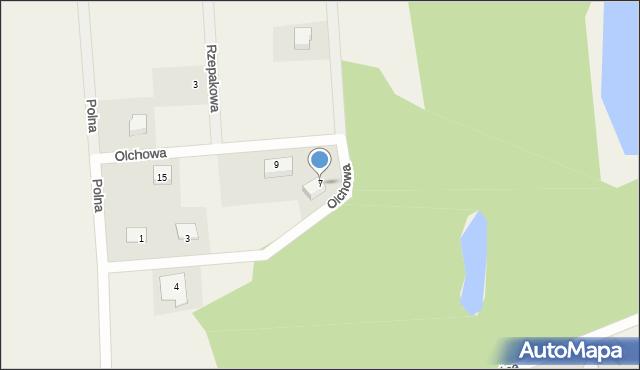 Kębłowo, Olchowa, 7, mapa Kębłowo