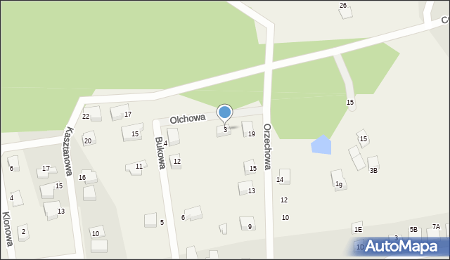 Luzino, Olchowa, 3, mapa Luzino