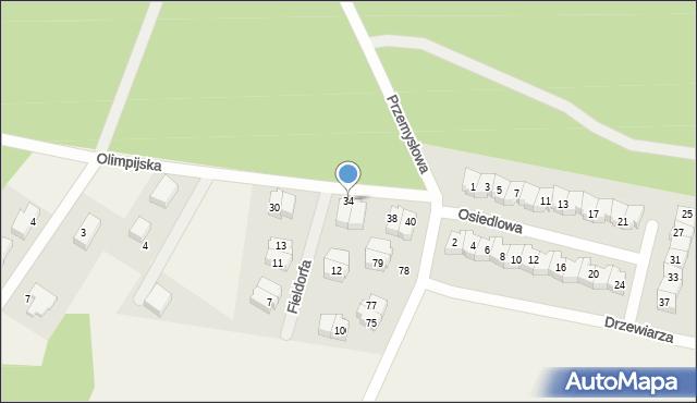 Luzino, Olimpijska, 34, mapa Luzino