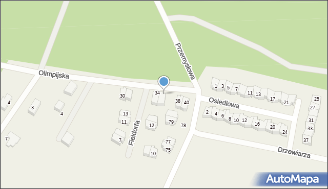 Luzino, Olimpijska, 36, mapa Luzino