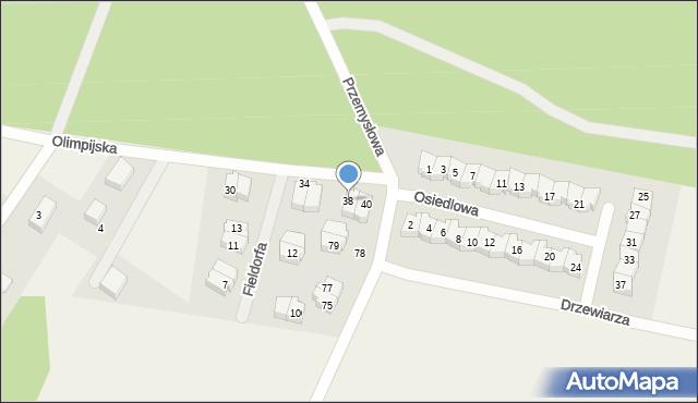 Luzino, Olimpijska, 38, mapa Luzino
