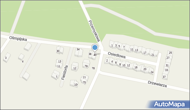 Luzino, Olimpijska, 40, mapa Luzino