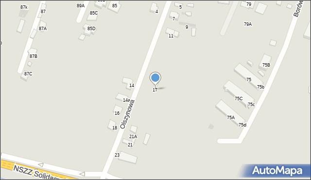 Radom, Olszynowa, 17, mapa Radomia