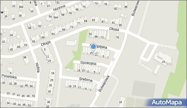 Radom, Olimpijska, 13, mapa Radomia