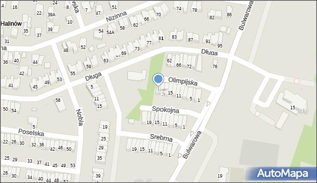 Radom, Olimpijska, 21, mapa Radomia