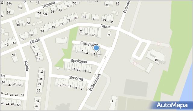 Radom, Olimpijska, 3, mapa Radomia
