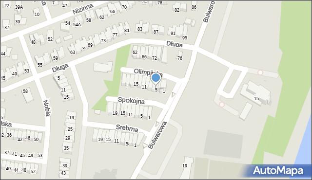 Radom, Olimpijska, 5, mapa Radomia