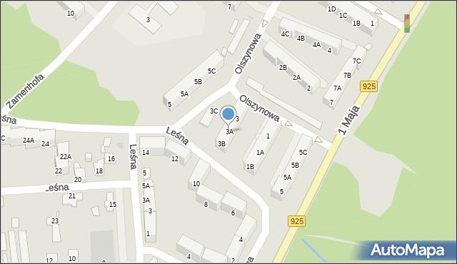 Ruda Śląska, Olszynowa, 3A, mapa Rudy Śląskiej