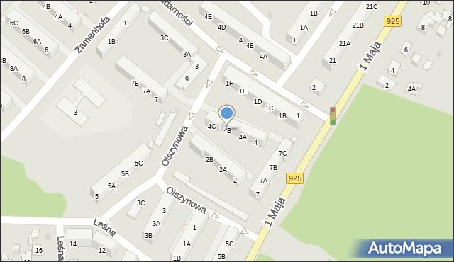 Ruda Śląska, Olszynowa, 4B, mapa Rudy Śląskiej