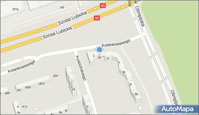 Toruń, Olimpijska, 2a, mapa Torunia