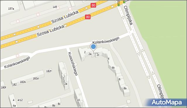 Toruń, Olimpijska, 2b, mapa Torunia