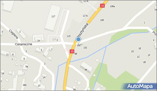 Toruń, Olsztyńska, 104, mapa Torunia